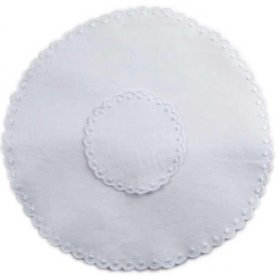 30cm Circular Linen Placemat