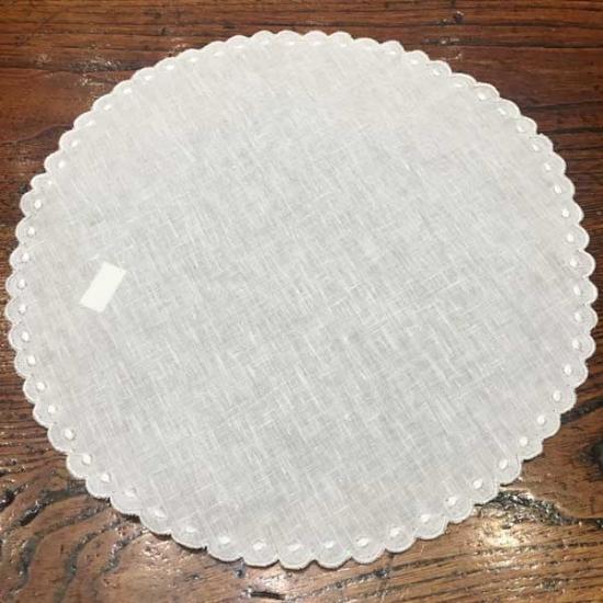 26cm Circular Linen Placemat