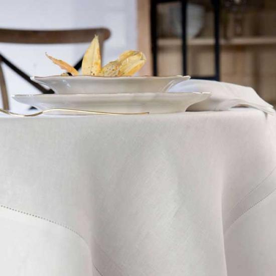 Hemstitch Linen Tablecloth