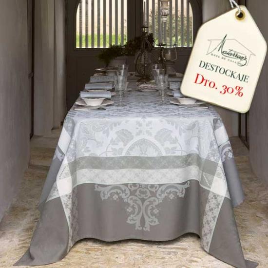 Grey Tile Tablecloth