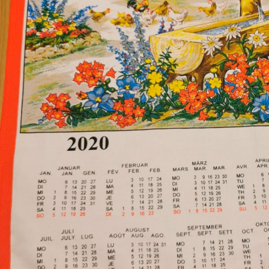 Big Cotton Calendar