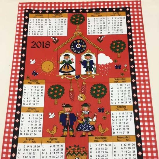 Paño Calendario Tela