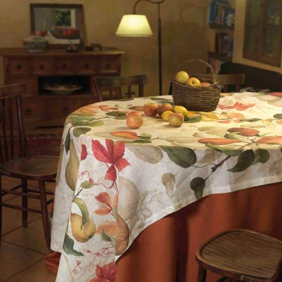 Linen Tablecloth Treated