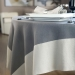POLY LINEN EMBOZO TABLECLOTH